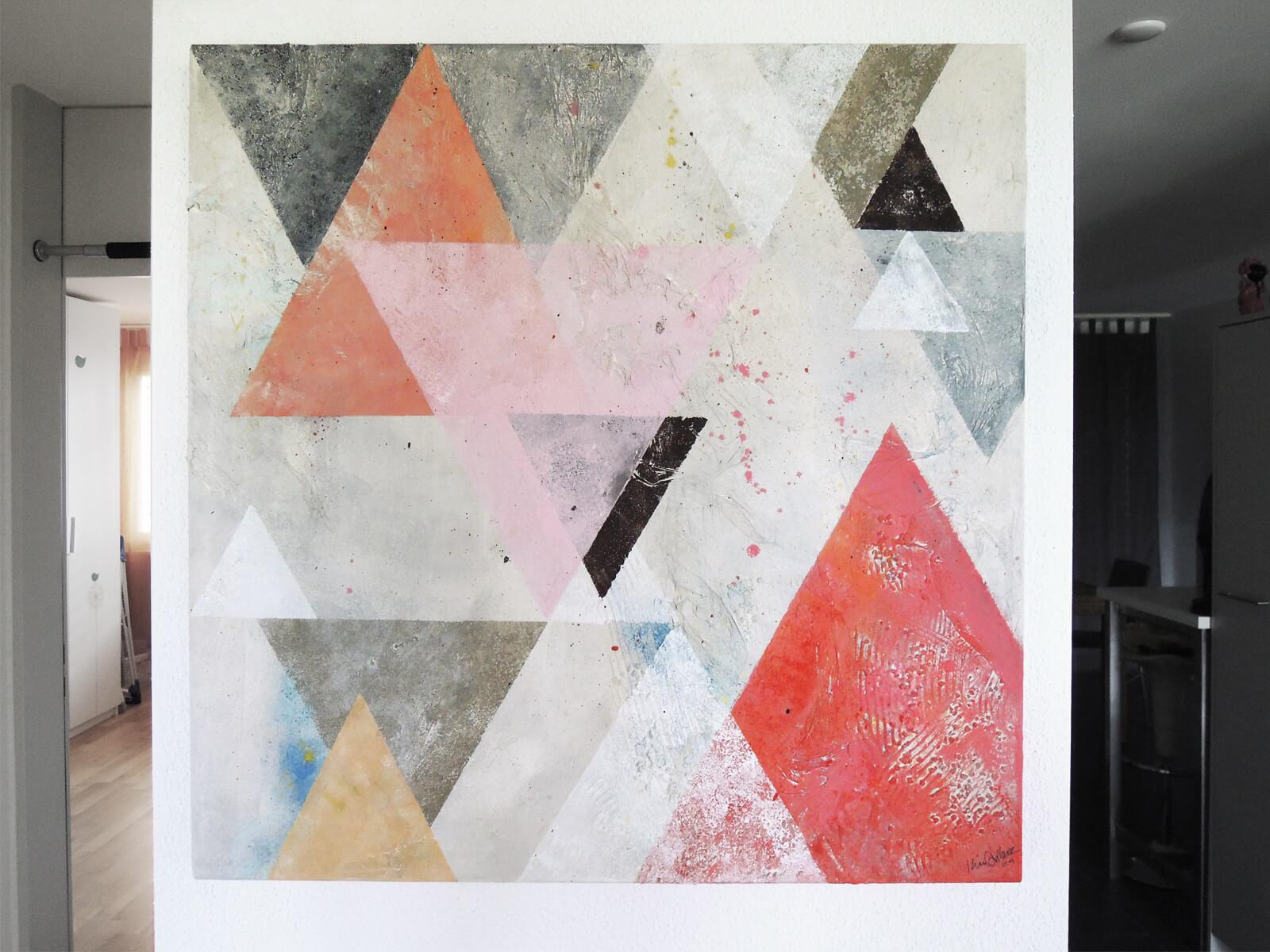 Dreiecke_Kim-Arbenz_Leinwand_Collage