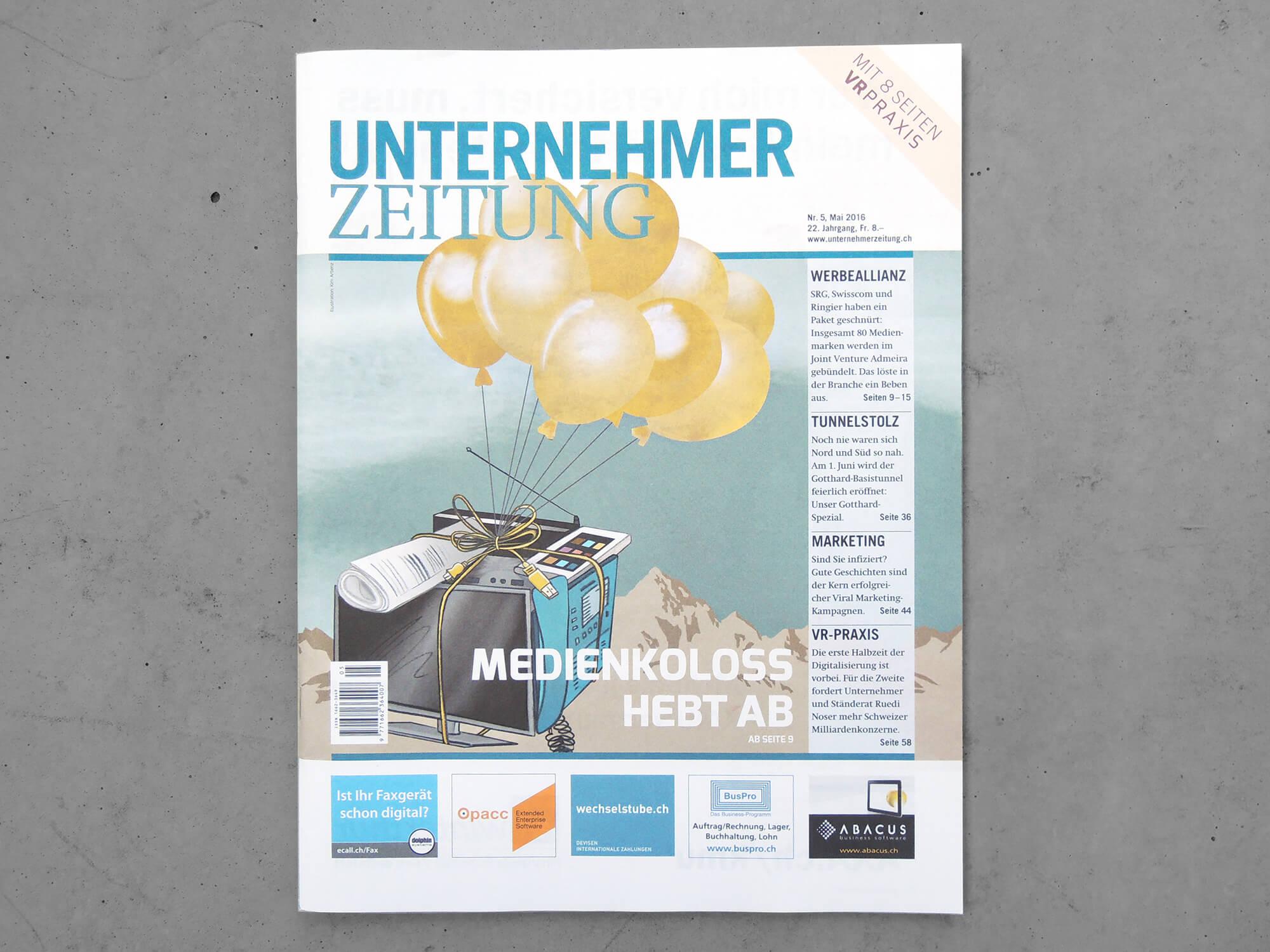 Cover_Unternehmer-Zeitung_Kim-Arbenz