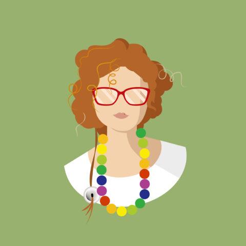 Mum Portrait Flat Illustration