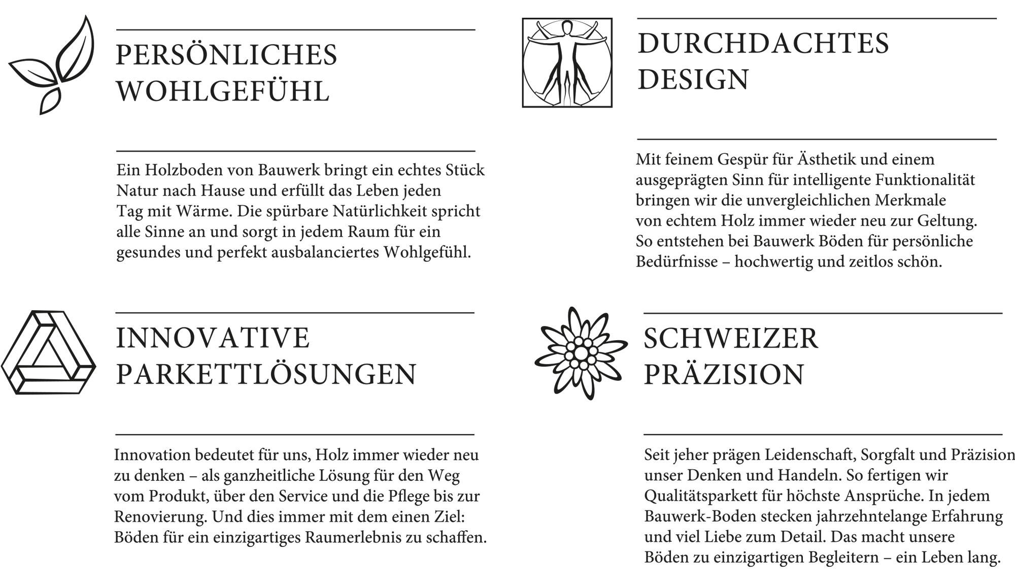 Bauwerk Werte Kompetenzlabels Icons